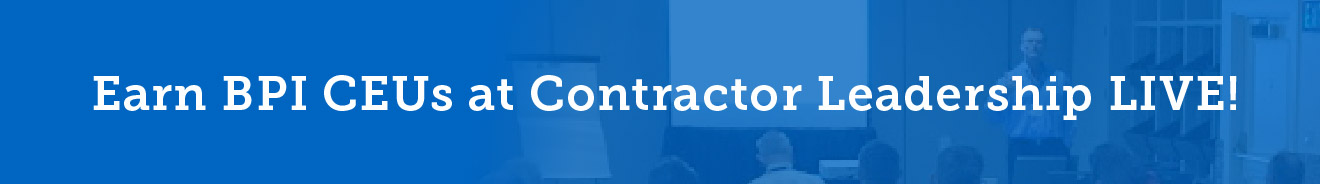 Contractor Leadership LIVE Agenda