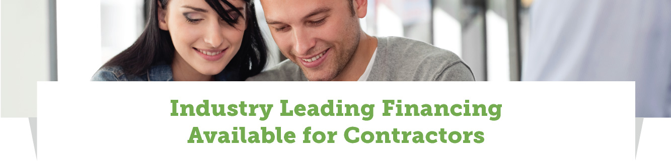 Industry Leading Financing Available for Contractors