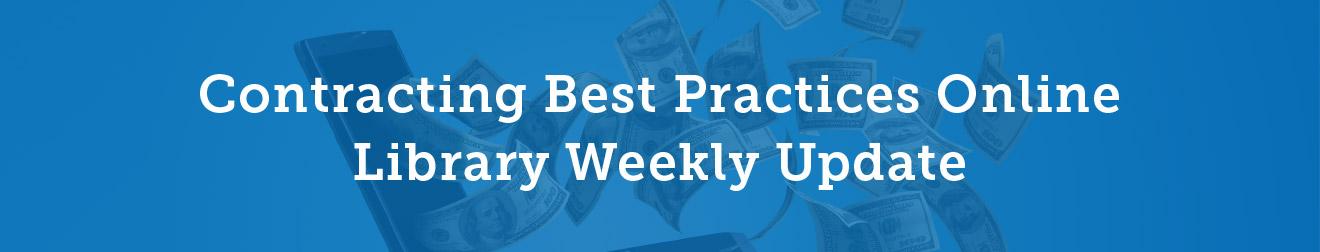 Contracting Best Practices